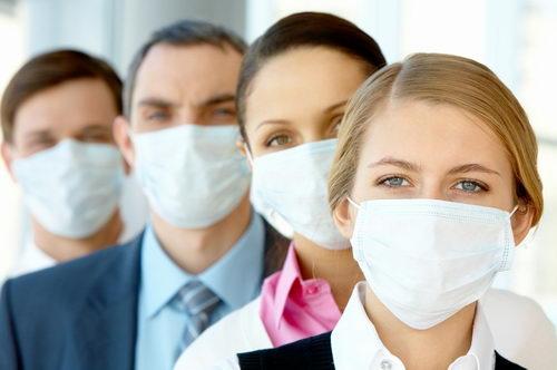 Эпидемия гриппа: повязки на лицо
