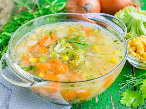 Суп на овощах